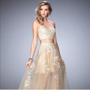 La Femme Two piece gown